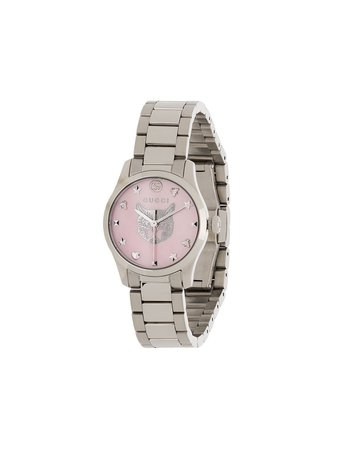 Silver Gucci G-Timeless 26mm watch - Farfetch