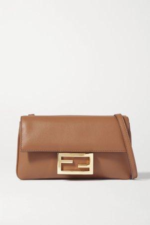 Brown Duo Baguette leather shoulder bag | Fendi | NET-A-PORTER