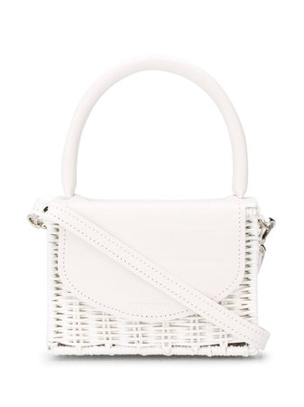 Wicker Wings BABING Woven Tote BABING White | Farfetch