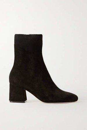 Porte & Paire - Suede Ankle Boots - Black