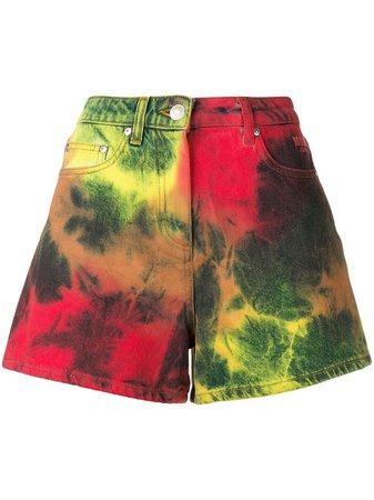 MSGM tie dye denim shorts with Express Delivery - Farfetch