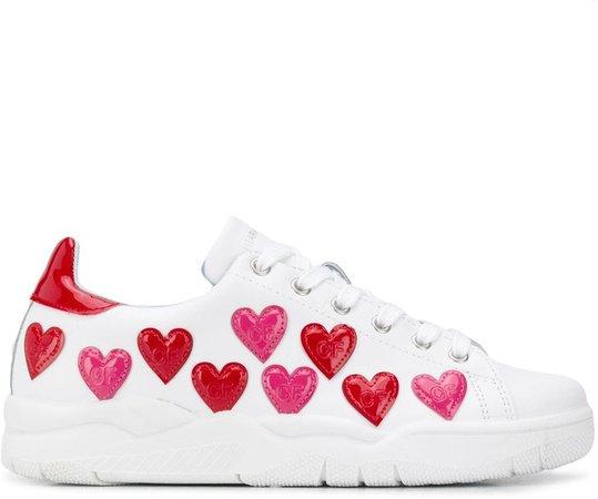 Heart-Embellished Sneakers