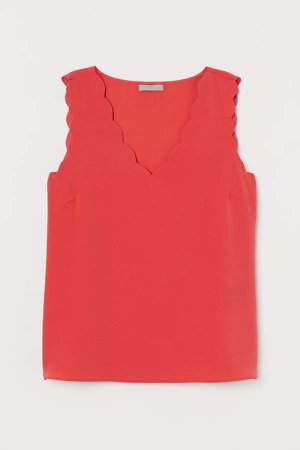 Sleeveless Blouse - Red