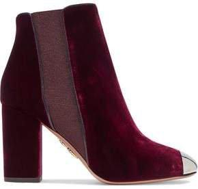 Nova Embellished Velvet Ankle Boots