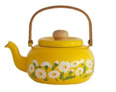 yellow flower teapot