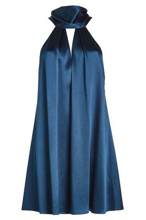 Silk Sash Neck Dress Gr. FR 38