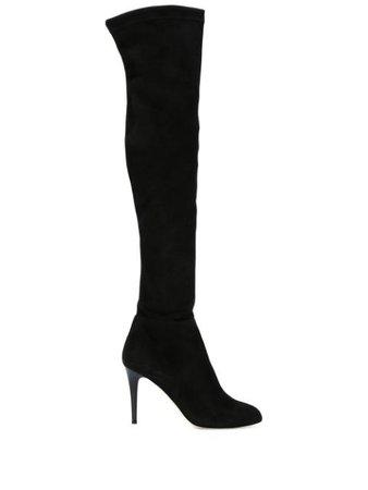 Black Jimmy Choo 'toni' Thigh High Boots   Farfetch.com