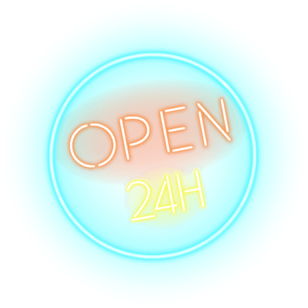 Photography Neon Sign Hours Stock.xchng Logo Vector, Clipart, PSD - peoplepng.com