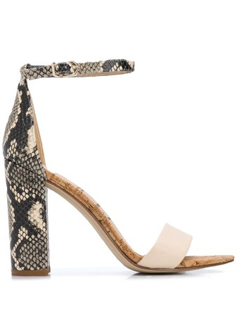 Sam Edelman Snakeskin Ankle Sandals - Farfetch