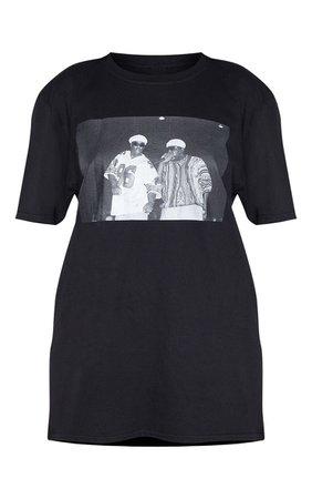 Black Biggie 96 Print Oversized T Shirt