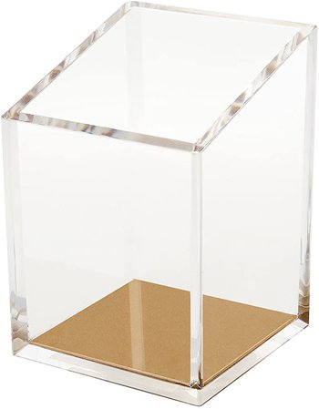 Amazon.com : OfficeGoods Acrylic & Gold Pencil and Pen Holder - Beautiful Classic Modern Design to Keep Your Desk at The Office or Home Organized : Office Products