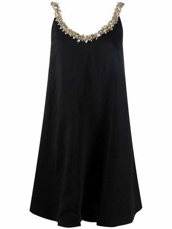 LANVIN embellished-neckline Sleeveless Dress - Farfetch