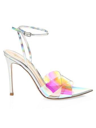 Gianvito Rossi Stark Iridescent PVC Sandals | SaksFifthAvenue
