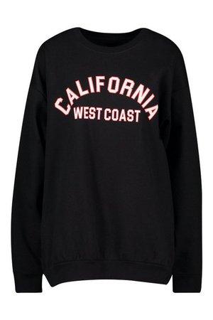California Slogan Oversized Sweatshirt | boohoo