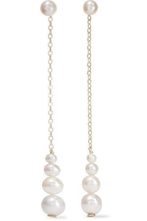 Saskia Diez | Gold pearl earrings | NET-A-PORTER.COM