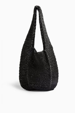 BALI Black Slouchy Tote Bag | Topshop