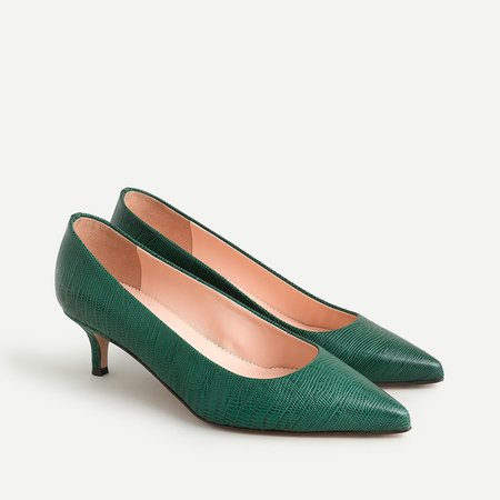 Sophia pumps in snake-embossed leather