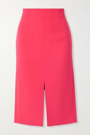 Moka Wool-crepe Pencil Skirt - Fuchsia