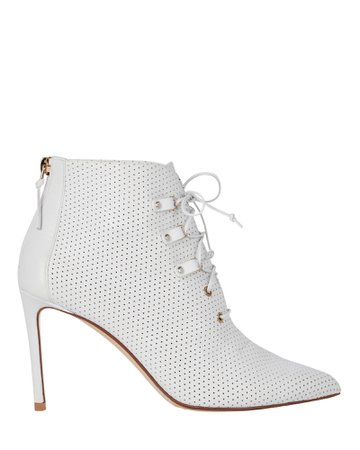 Francesco Russo Perforated Leather Booties | INTERMIX®