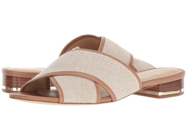 MICHAEL Michael Kors - Shelly Flat Sandal (Hemp Hemp/Vachetta) Women's Sandals