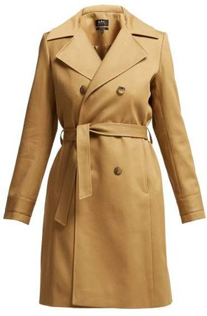 Alexis Belted Cotton Trench Coat - Womens - Beige