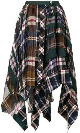 plaid and pleated skirt