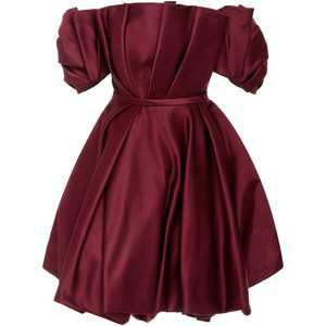 Elizabeth Kennedy Pleated Off-The-Shoulder Mini Dress