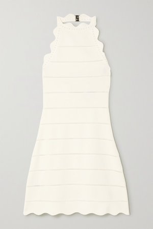 Hervé Léger | Scalloped bandage mini dress | NET-A-PORTER.COM