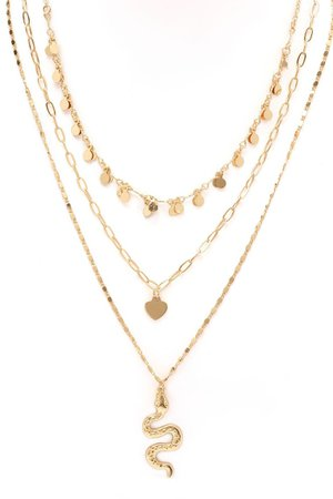 What Did You Say Layered Necklace - Gold – Fashion Nova
