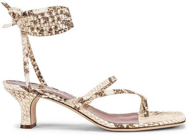 Faded Python Print Wrap Sandal in Faded Natural | FWRD
