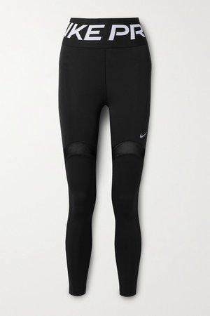 Black Pro Stealth Luxe mesh-trimmed Dri-FIT leggings | Nike | NET-A-PORTER