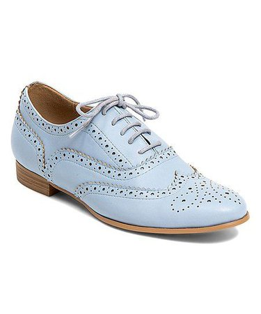 French Blu Sky Blue Laurelly Oxford | zulily | Shoe boots, Dress shoes men, Oxford shoes