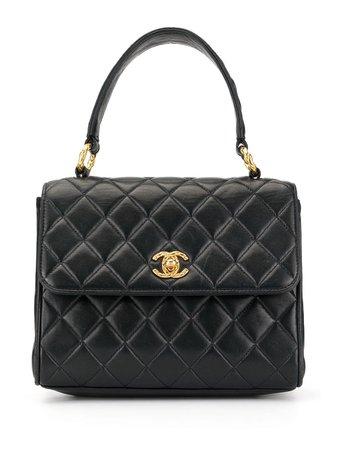 Chanel Pre-Owned 1992's Turn-lock Handbag | Farfetch.com