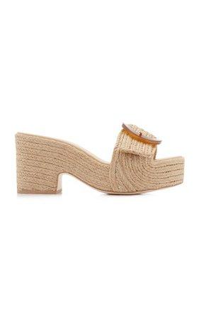 Cleia Jute Platform Sandals By Cult Gaia | Moda Operandi