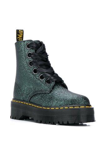 Dr. Martens Glitter Embellished Platform Boots - Farfetch