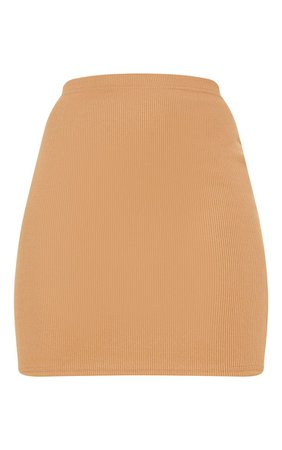 Cream Bandage Rib Mini Skirt - Skirts & Shorts - New In   PrettyLittleThing