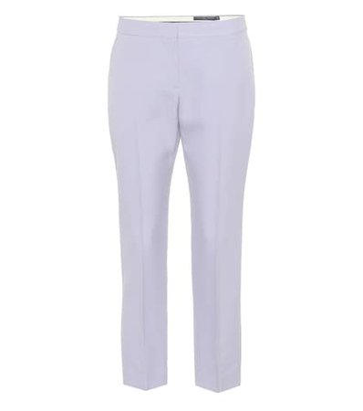 Cropped mid-rise straight pants
