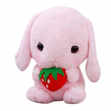 Kawaii Soft Pink Bunny Plush Stuffed Animal Toy | DDLG Playground