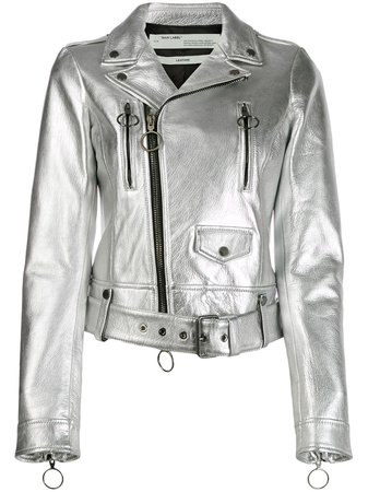 Off-White leather biker jacket £2,020 - Shop Online - Fast Global Shipping, Price