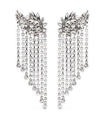 Alessandra Rich crystal fringed earrings - FARFETCH
