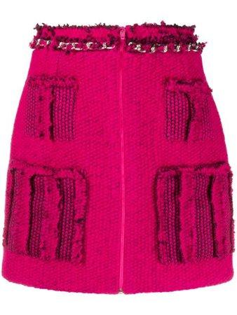 Loulou Frayed Knitted Mini Skirt - Farfetch