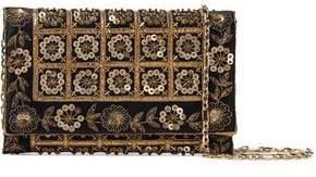Dede Embellished Satin Clutch