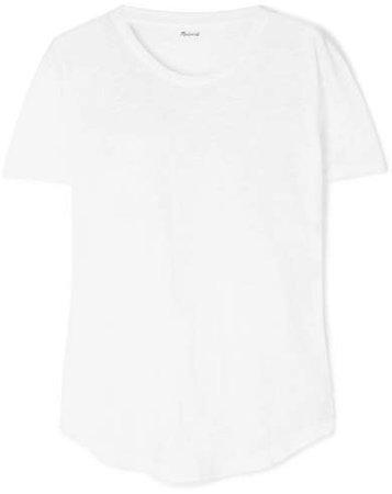 Whisper Slub Cotton-jersey T-shirt - White