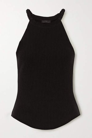 The Range - Division Braided Ribbed Stretch Cotton-jersey Tank - Black