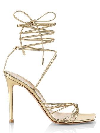 Gianvito Rossi Metallic Leather Sandals | SaksFifthAvenue