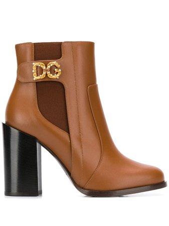 Dolce & Gabbana Botines Con Motivo DG - Farfetch