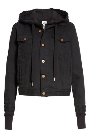 NSF Nala Hooded Cotton Denim Jacket