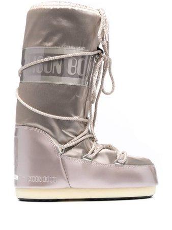 Moon Boot Icon satin snow boots - FARFETCH