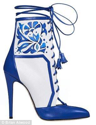 blue boots shoes