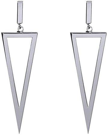 Amazon.com: Triangle Shape Drop Dangle Earrings Metal Geometric For Women Bar Party Jewelry-Black: Jewelry